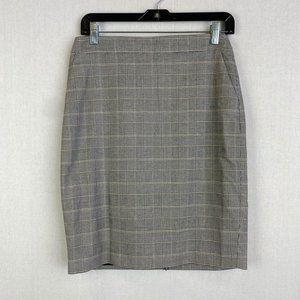 WHITE HOUSE BLACK MARKET Houndstooth Skirt NWT